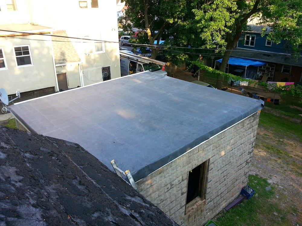 Flat Roof EPDM Installation & Parking Garage Reconstruction