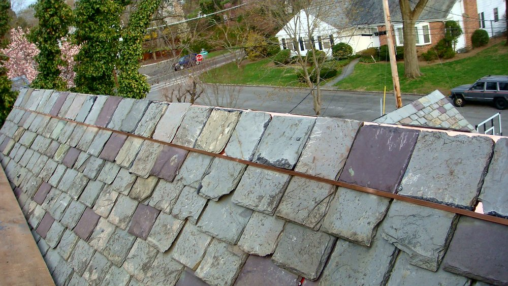 Damaged Slate Ridge Repair