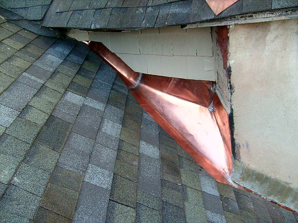 Copper Flashing Valley Installation