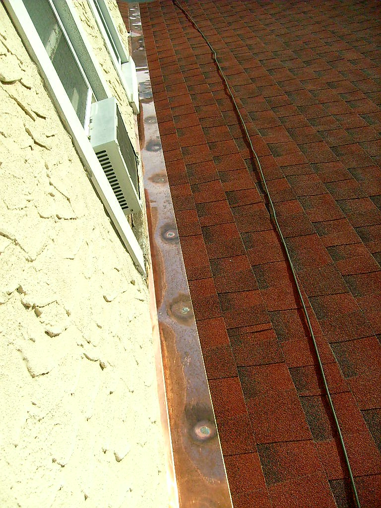 Copper Flashing Installation Into Wall
