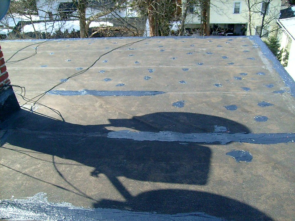 Flat Roof EPDM Patch Repair
