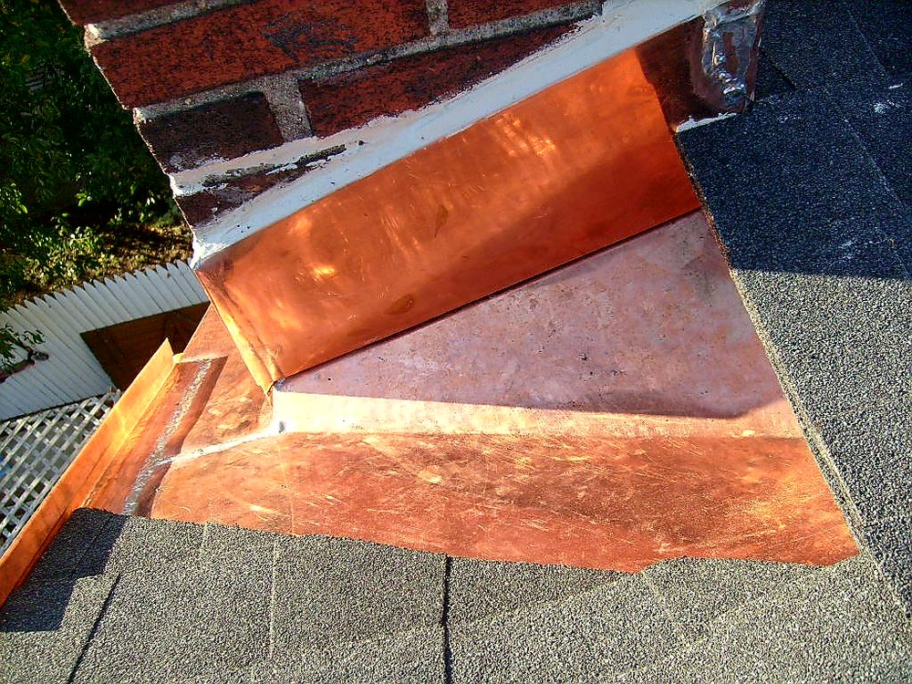 Chimney Copper Flashing Base Installation