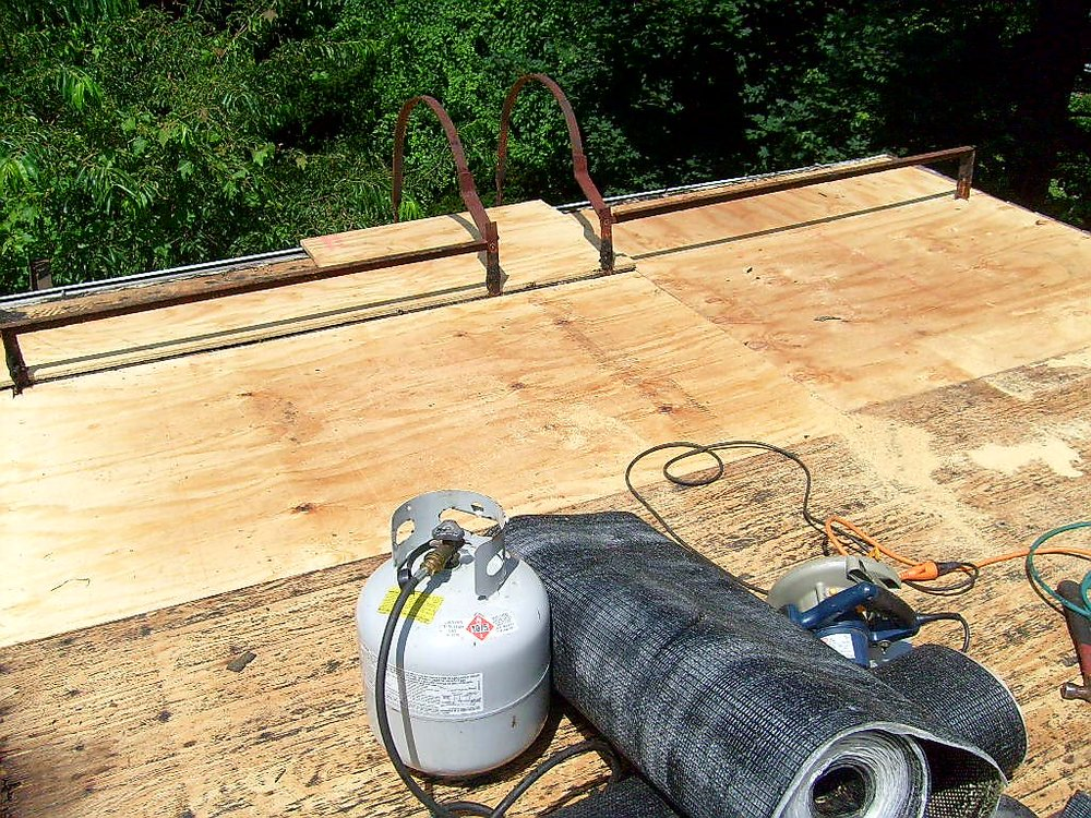 Plywood Sheathing Flat Roof Repair