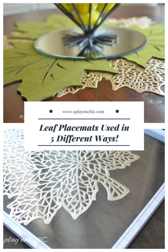 Placemats as Home Decor - 5 Different Ways!