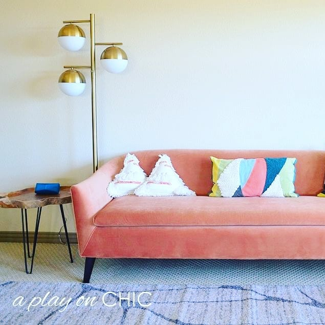 Happy Friday! I'm sharing a picture of one of the last sections of my kid's playroom that is still in progress. I absolutely adore this couch from@wayfair. I had bought a green couch last summer and decided it didn't look quite right in the playroom, so I returned it and bought this coral one instead.(and coral is the 2019 pantone color!) If you'd like to hear more about my experience with returning stuff at Wayfair, check out the latest post on the blog! Hope you have a wonderful weekend! . . . . .  #wayfair #wayfairfurniture #wayfairathome #newfurniture #midcenturyliving #homeinspo #homeanddecor #babyplayroom #kidsplayroom #homedecortips #hometips #sofas #kidsinteriordesign #babyroomideas #couch #familyroom #homestyling #midcenturymodern #sofa #midcenturymodernfurniture #midcentury #loveyourhome #homeideas #interiors123 #playroomdecor #kidsroominspo #kids_interior1 #kidsperation #kidsroominspo