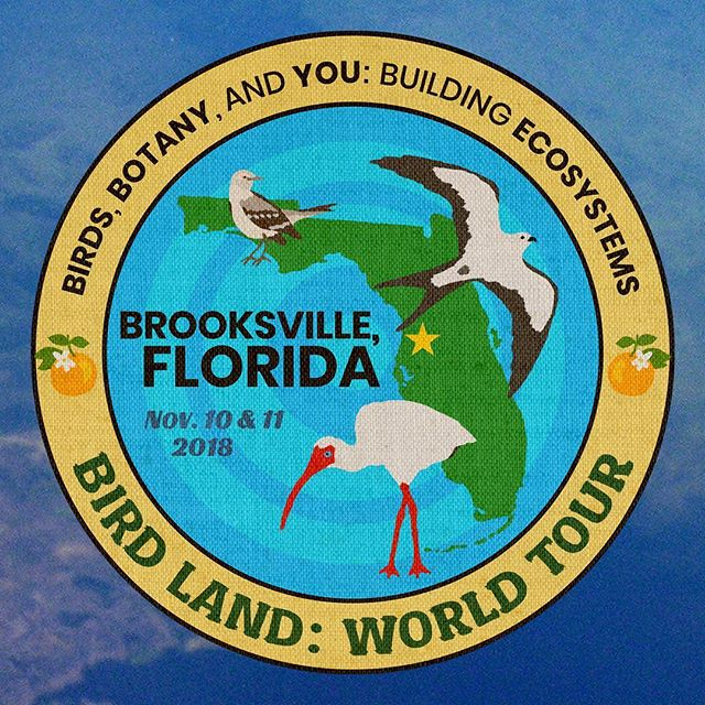 BIRD LAND: WORLD TOUR kicks off with a 2-DAY EVENT in BROOKSVILLE, FLORIDA for its first stop on NOVEMBER 10 and NOVEMBER 11. Guest passes and sponsorship opportunities available at http://www.birdland.world  The event includes live presentations on birds, botany, building ecosystems, and our roles to play in maintaining a sustainable and healthy planet. The event also features a farm-to-table, home-cooked breakfast and tour of an operational permaculture farm, a guided birding walk in a local nature reserve, and opportunities to network and connect with vendors, activists, and organizations concerned with ecology. Come join the fun, learn, discuss, and share information, and meet other passionate individuals working together to make a positive change in our world. We look forward to meeting you!