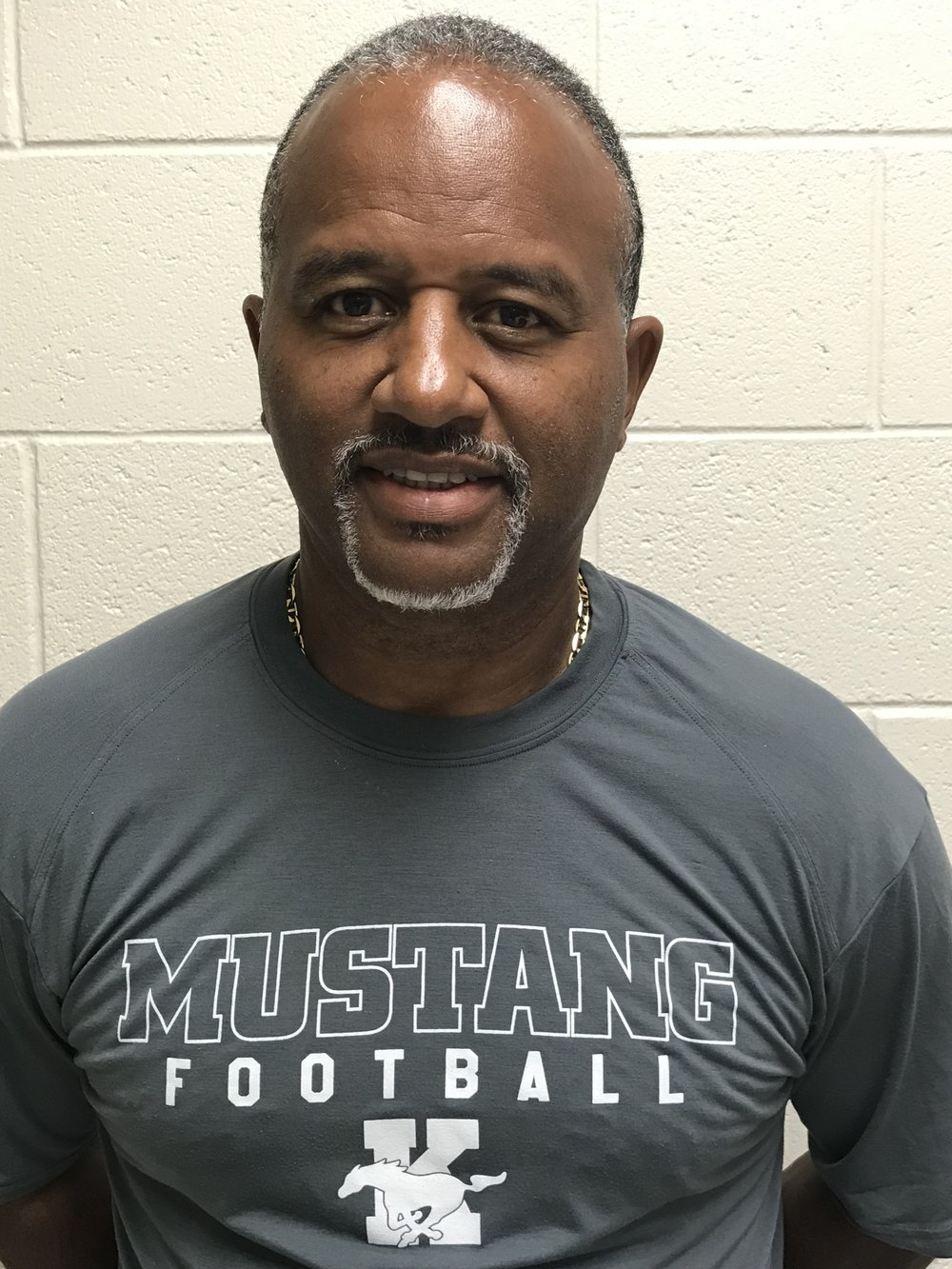 Kevin PenaSafeties - Coach Pena enters his 2nd season with the Mustangs. Coach Pena teaches in the Educational Support department at KMHS. Prior to coming to the Mountain, Coach Pena was the Assist Head Coach / Def. Coordinator / Secondary Coach at Whitefield Academy. Coach Pena has also coached at Allatoona High, North Kingston (RI) and Southern Connecticut State University. He also the Defensive Coordinator of the Boys Lacrosse program here at KMHS. Coach Pena played football at LaSalle Academy were he earned the 1978- FIRST TEAM ALL-STATE DB) He also played defensive back at AIC (1978-1982) were he was a four year starter.Coach Pena and his wife Charmaine have 3 children Kevin Jr, Kiana and Kameron