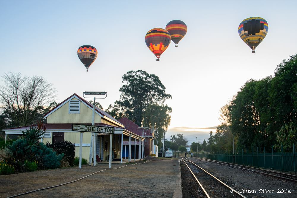 Creighton Aloe Festival Steam Train Hot Air Balloon Ride Kwazulu Natal South Africa
