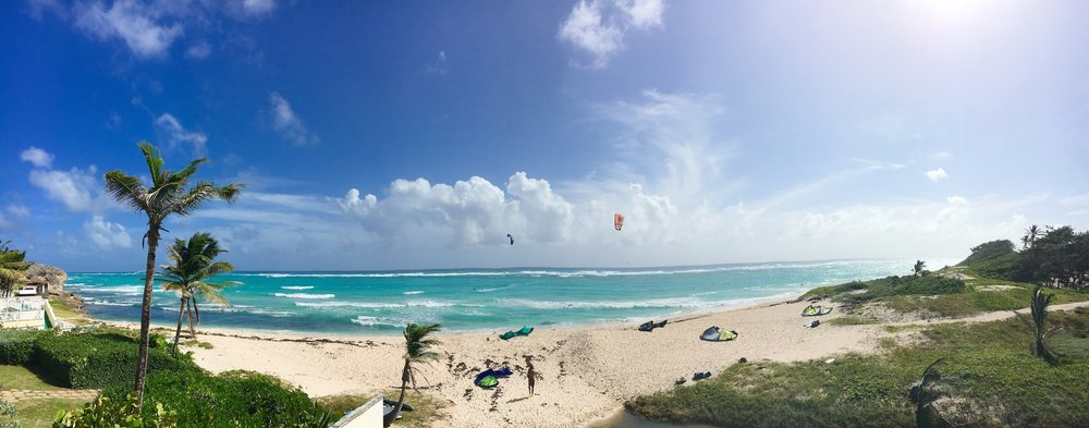 Kitesurfing at Silver Rock Beach, Barbados.jpg