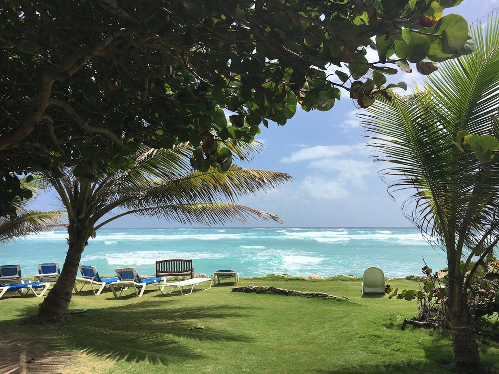View at Surfer's Point, Ocean Spray Apartments