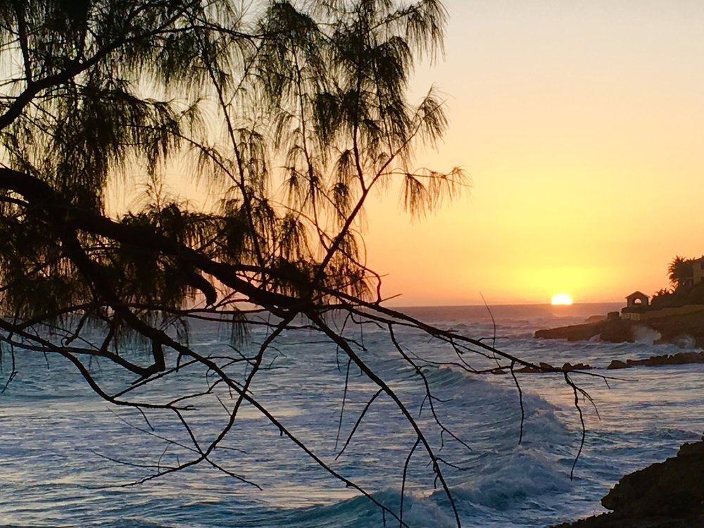 Sunset at Surfer's Bay Beach Bar