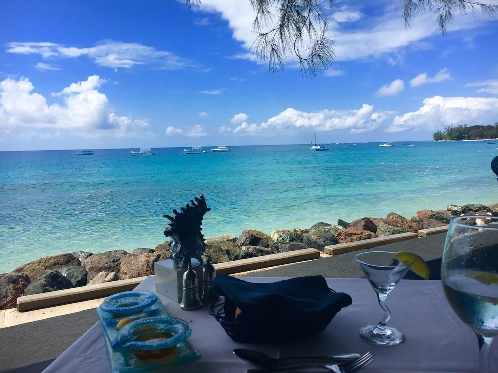 Lunch with a view on the West Coast of Barbados