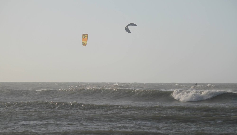 Kitesurfing in Salinas del Rey, Colombia