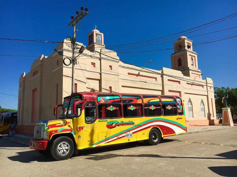The famous colourful Colombian bus