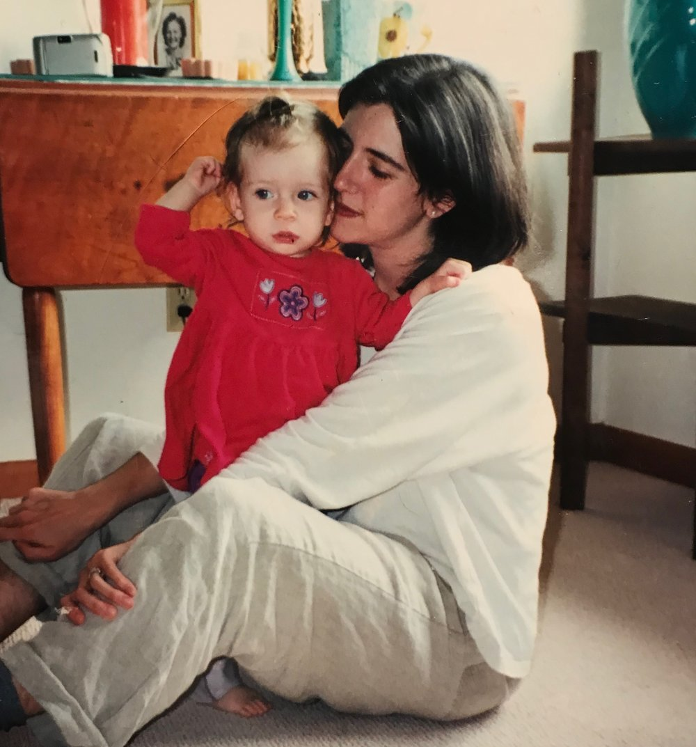 The author as a baby with her mother.