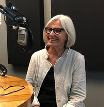 Eileen Fisher wearing a jacket I worked on!