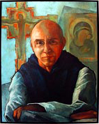 Portrait of Merton by James Nally - Hangs in the parlor where Merton received instruction.