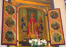 Main altarpiece by Valentine d'Ogries