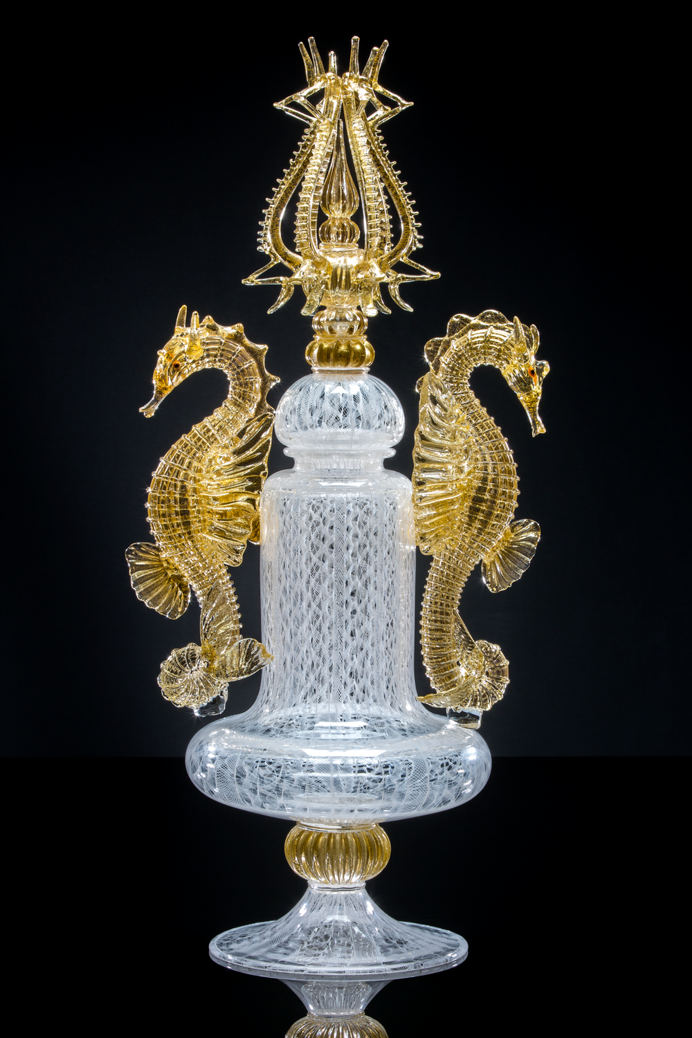 James Mongrain (American, born 1968).  Poseidon V,  2015. Glass; 29 1/2 x 13 1/2 x 9 3/4 in. Courtesy of The George R. Stroemple Collection, a Stroemple/Stirek Collaboration. Photo by Drew Lenihan.