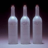 Poet's Bottles: Faith, Hope, Truth