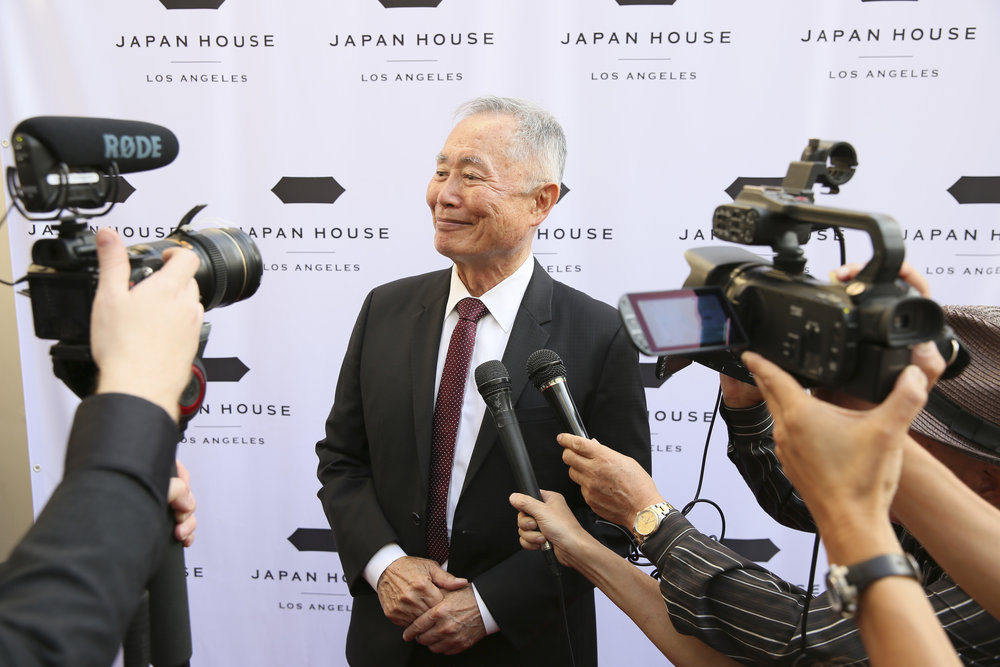 Actor, activist and JAPAN HOUSE Los Angeles supporter  George Takei  arrives to emcee the grand opening celebration of JAPAN HOUSE Los Angeles in Hollywood. (Photo by Ryan Miller / JAPAN HOUSE Los Angeles)