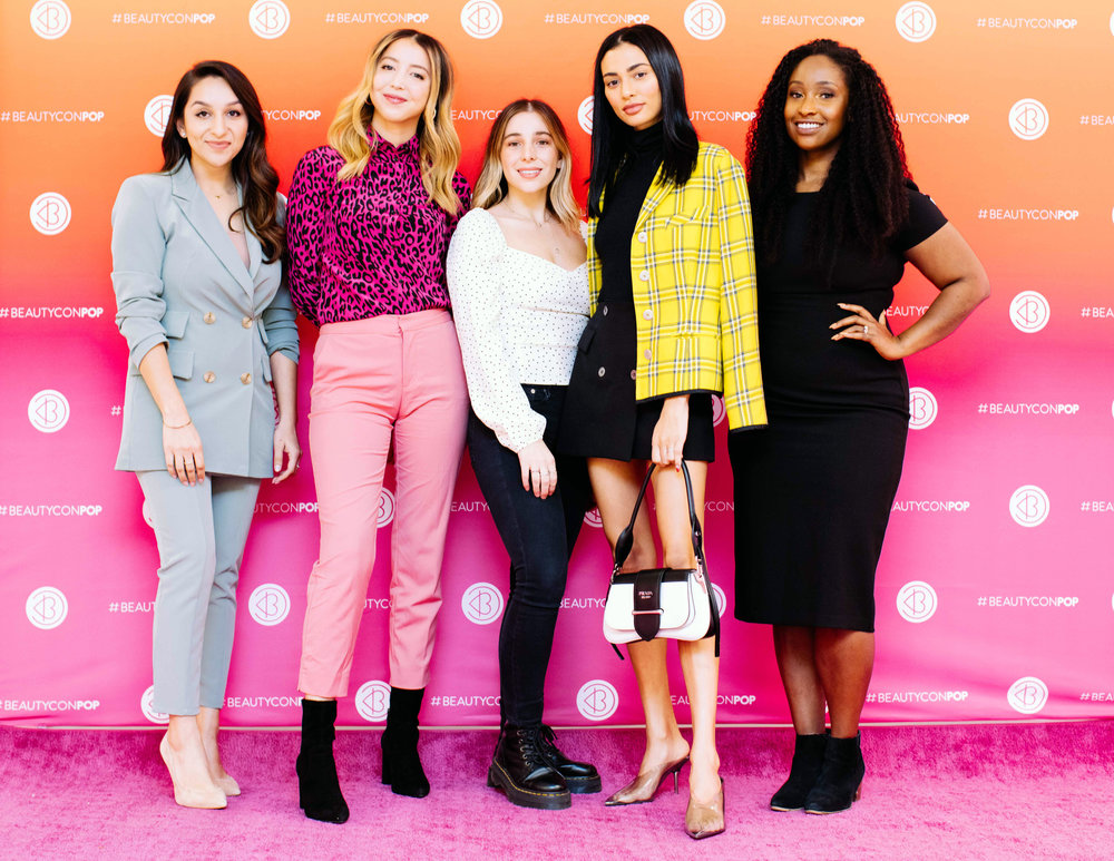 Nadia Babar  (Founder, Kálos).  Carina Chaz  (Founder, Dedcool),  Lynnsee van Gordon  (Founder, Anese),  Kristen Noel Crawley  (Founder, KNC Beauty),  KJ Miller  (Co-Founder, Mented Cosmetics). Photo Credit: Tasha Bleu