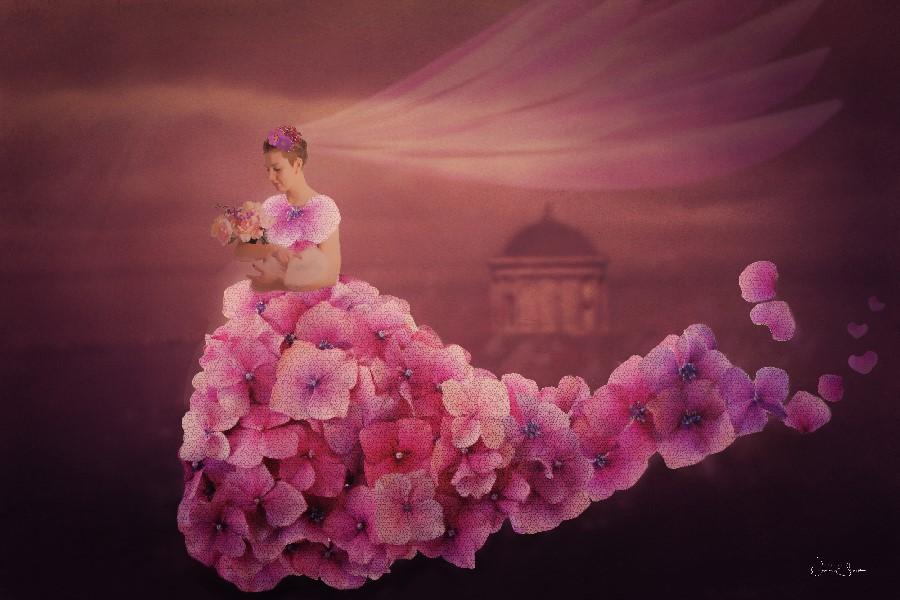 Iola, Hydrangea Flower Dress