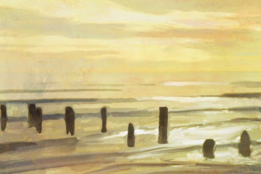 Beach Pillars, Newcastle, Down, Mourne, Percy French