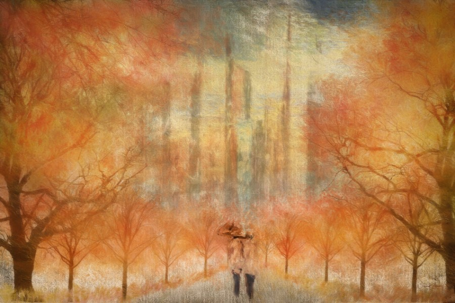 Autumn Stroll, Urban City Park
