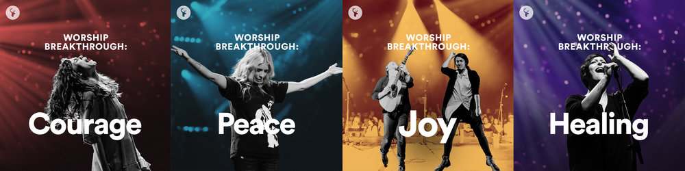 "Cover graphics for our ""Worship Breakthrough"" playlist series"