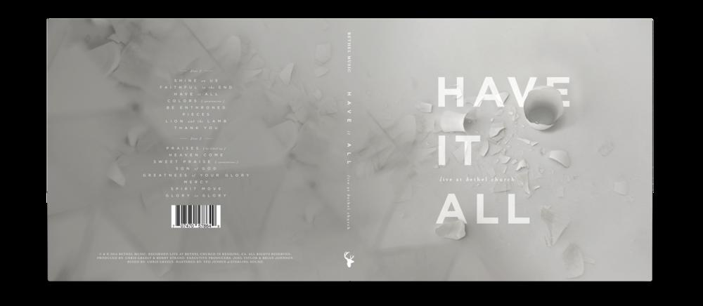 """Original """"Have It All"""" album artwork concept"""