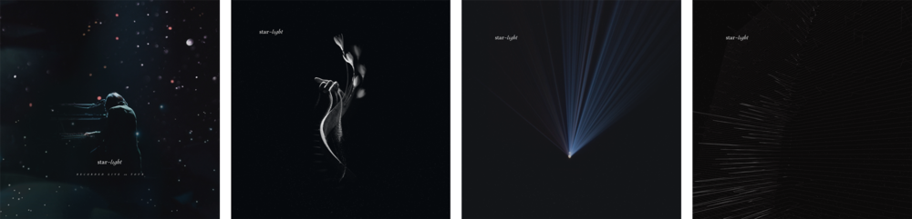Further exploration and refinement of the album artwork.