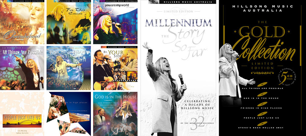 A sample of the albums designed by Chris for Hillsong between 1994 and 2001.