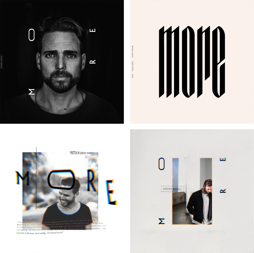 "Initial exploration and concepts for Jeremy Riddle's ""More"" album artwork."