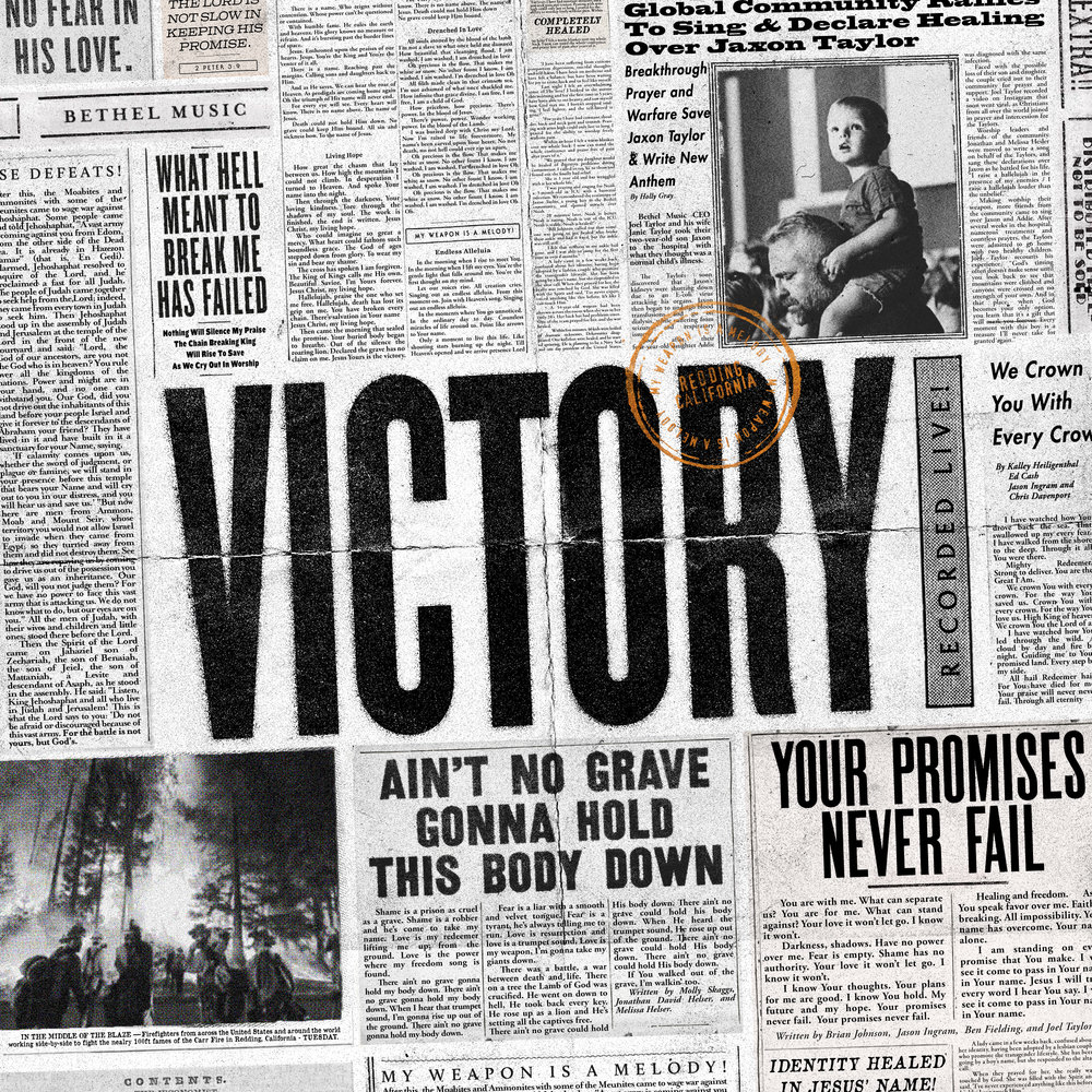 "Full-res ""VICTORY"" album cover — zoom to read the stories!"