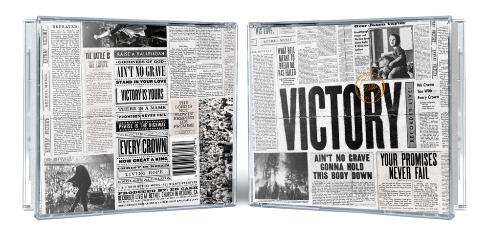 "Jewel Case (back and front cover) for the ""VICTORY"" album artwork"