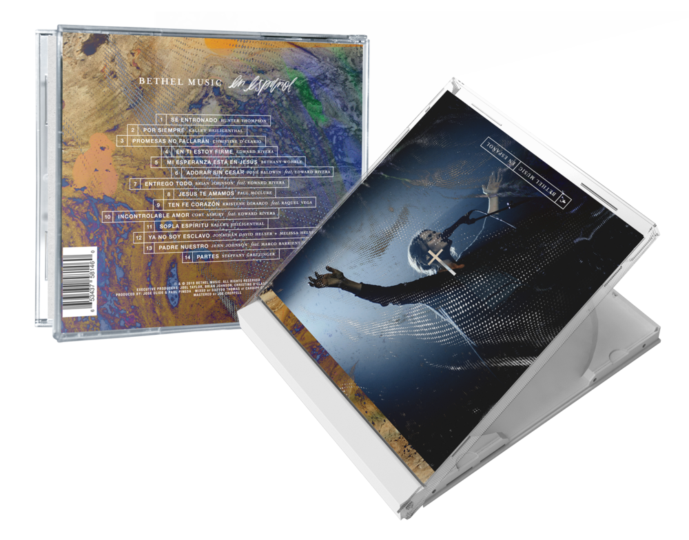 "Jewel Case (back and front cover) for the ""Bethel Music En Español"" album artwork"