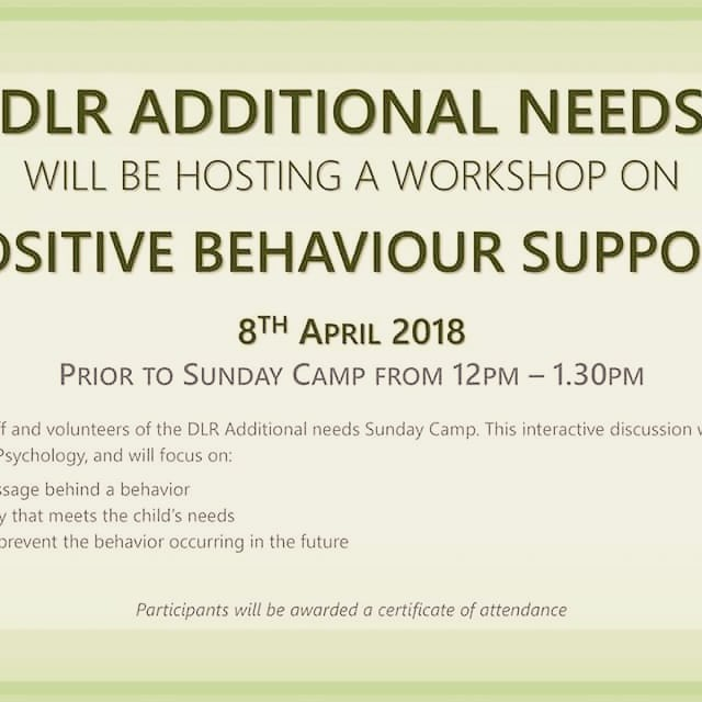 Feedback from recent training with the team at DLR Additional Needs