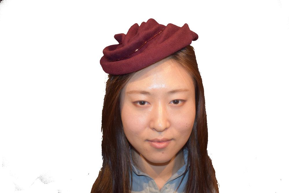 Draped Felt Hat