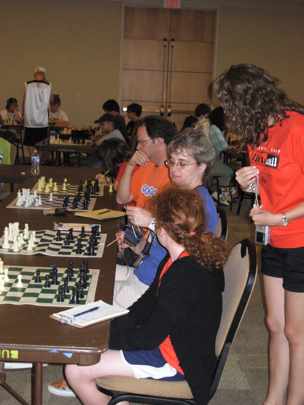 A range of campers participate in a camp simul