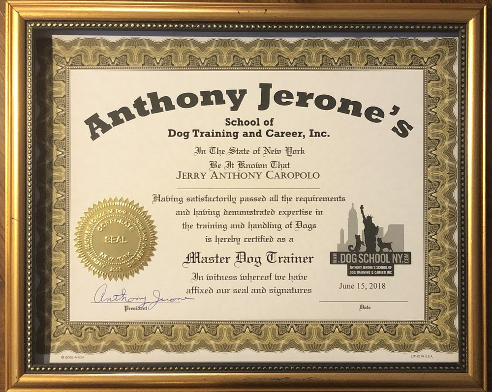 2018 Master Dog Trainer Certificate Anthony Jerone.jpg