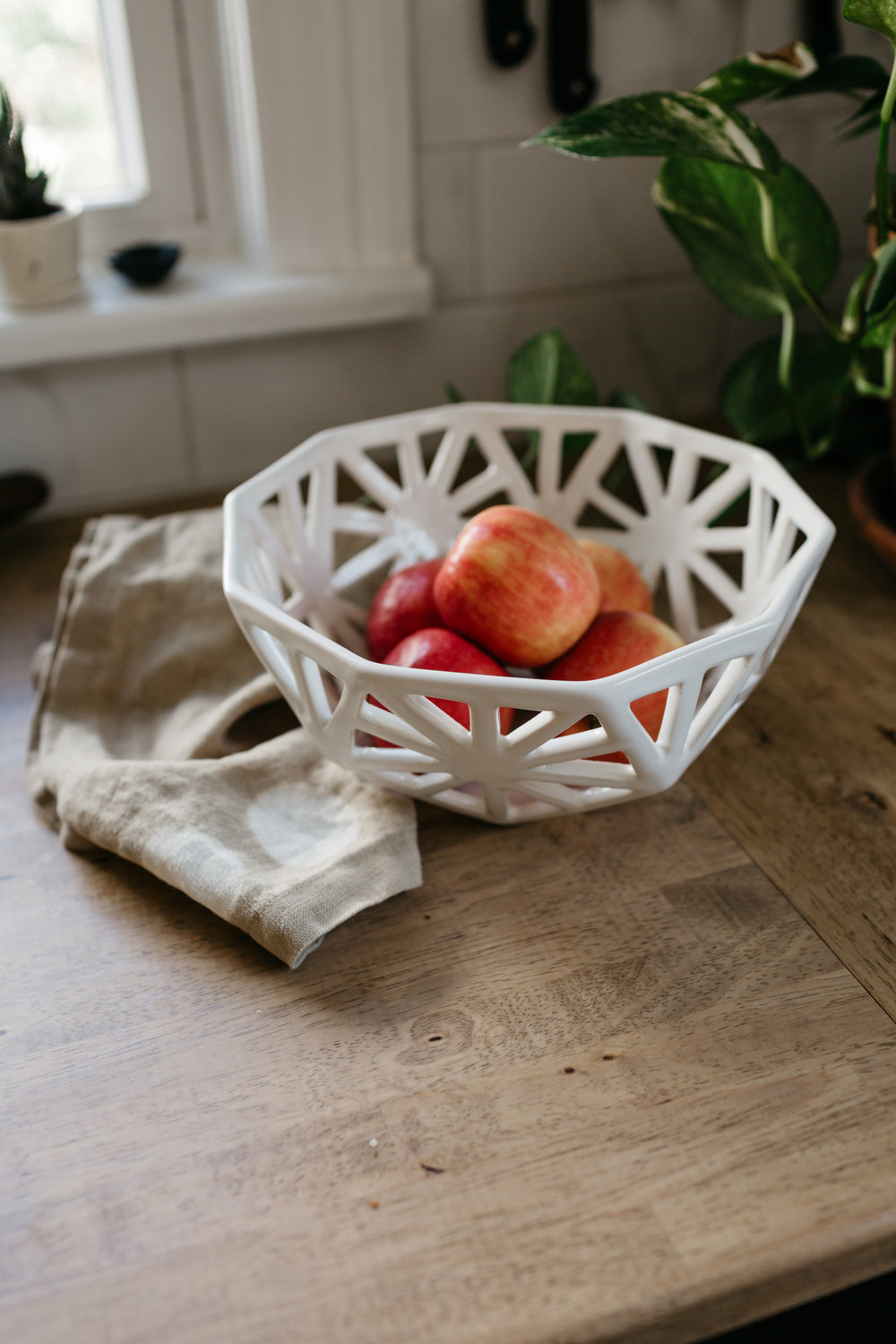 Our  Geodesic Fruit Bowls  are handmade and individually carved.