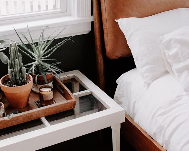 It's coziest of corners. But really, I'm sitting here just looking at this wondering why adult nap time is not a thing. PS. I'm only mildly obsessed with this bed from @westelm and of course my @pfcandleco! (You can shop my products at the link in my bio) 🧡🧡