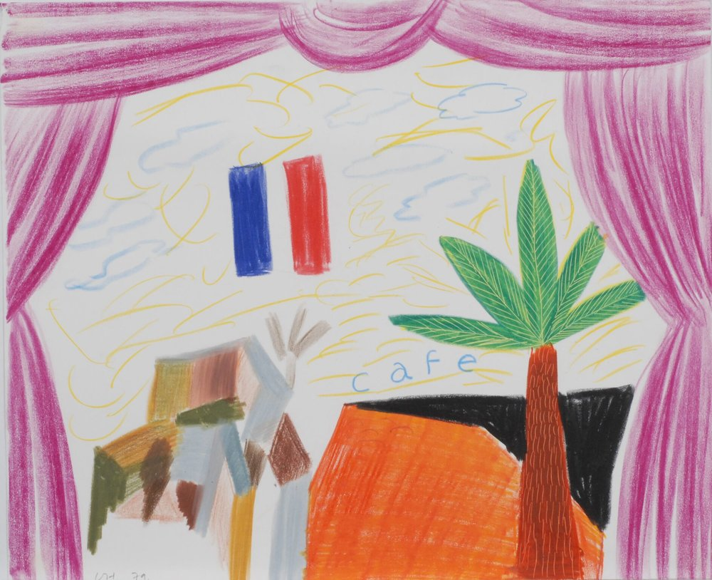 "David Hockney ""Café"" from Parade Triple Bill, 1979"