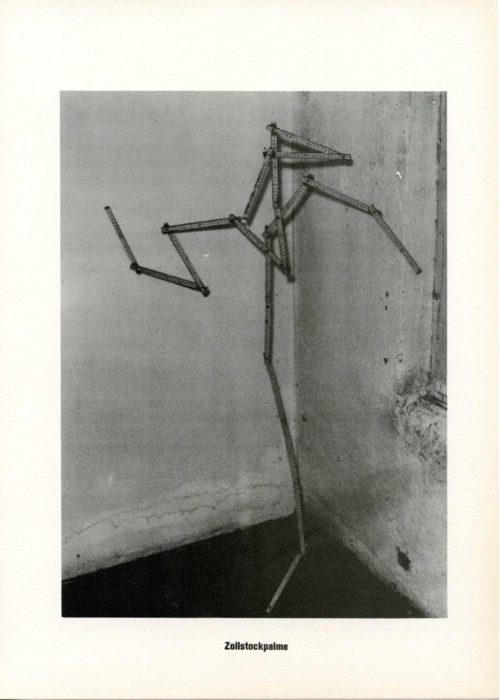 Sigmar Polke Zollstockpalme from ...Höhere Wesen befehlen, 1968