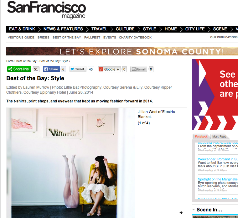 SF Magazine - Best of the Bay July 2014