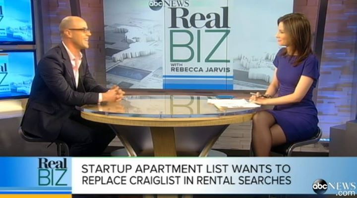 John on ABC News - December 2013 | John sits down with Rebecca Jarvis of ABC News Real Biz to discuss the future of Apartment ListLINK
