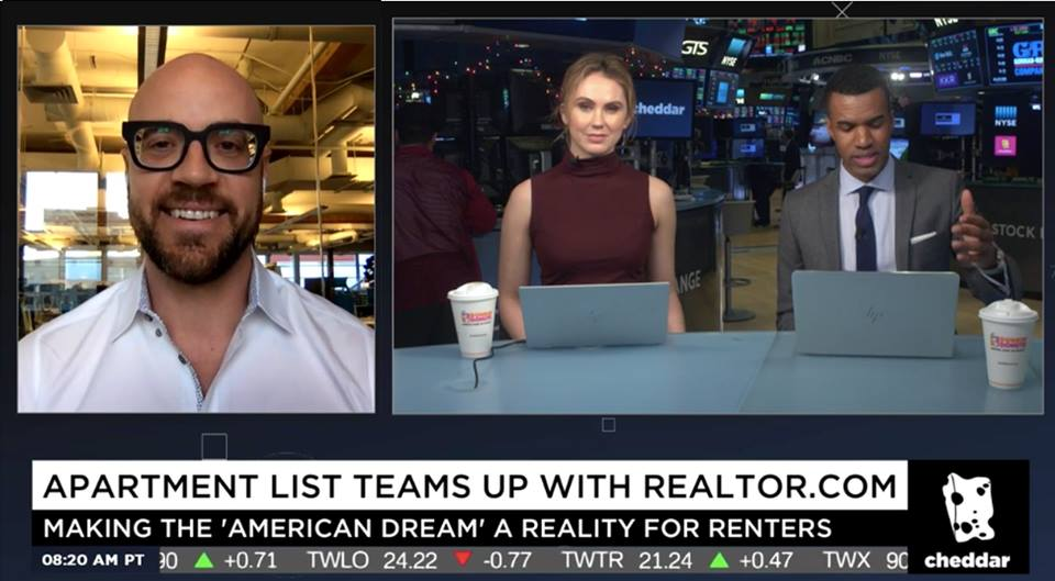 John interviewed by Cheddar TV - December 2017 | Apartment List announces its partnership with Realtor.comLINK