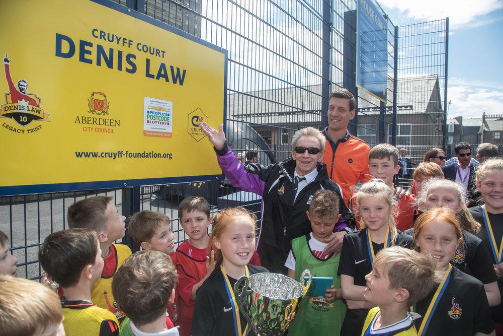 Cruyff Court Denis Law Opening 1.JPG