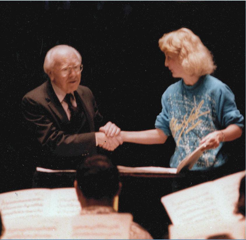 karel Husa & Mallory Thompson the Eastman Theater, April 1984